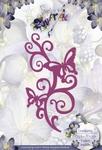 Precious Marieke's Die PM10012 Swirl met vlinder