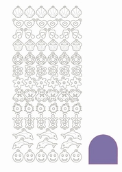 Stickervel Charms Mirror STCH019 Purple