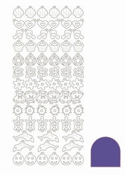 Stickervel Charms Mirror STCH016 Violet
