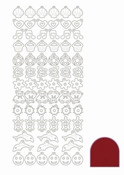 Stickervel Charms Mirror STCH014 Red