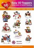 Hearty Crafts Easy 3D Toppers HC8134 Snowmen/Sneeuwpop