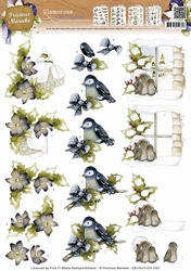 3D Knipvel Precious Marieke CD10415 Sneeuw landschap/vogel