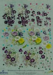 Dufex A4 Knipvel Metallic 2114 Bloemen