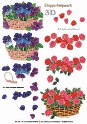 A4 Knipvel Le Suh  416913 Mand rozen & viooltjes