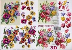A4 Knipvel Le Suh 4169124 Viooltjes & tulpen