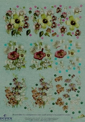 Dufex A4 Knipvel Metallic 2112 Bloemen