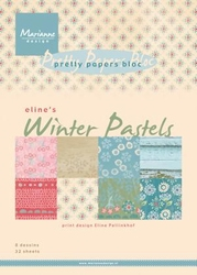 MD Pretty Paper Bloc PB7046 Eline's winter pastels