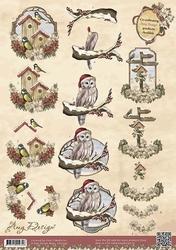 3D Knipvel Amy Design CD10392 Vintage Vogels