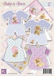Creatief art A4 pakket KVDM03-02 Baby is born 2