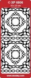 Sticker Doodey transparant XP6806 Hoekjes Cristal