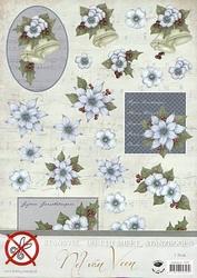 A4 Stansvel Nel van Veen 2357 Blauwe bloem & klok