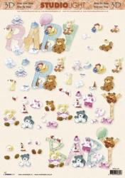 A4 Knipvel Studio Light STT 529 Geboorte/baby/knuffels