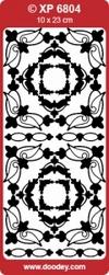 Sticker Doodey transparant XP6804 Hoekjes Joyce