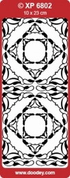 Sticker Doodey transparant XP6802 Hoekjes Diane