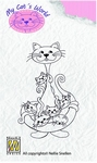 Nellie's clearstamps My Cats World CW003 Babysitter