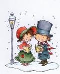 MD clear stamps Don & Daisy DDS3345 Liedjes zingen