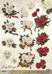 3D Knipvel Amy Design CD10424 Classic Flowers