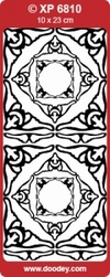 Sticker Doodey transparant XP6810 Hoekjes Caroline