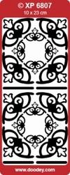 Sticker Doodey transparant XP6807 Hoekjes Simone