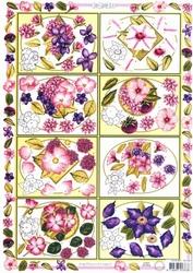 A4 Knipvel MD Diny 3D467 1-2-3D bloemen