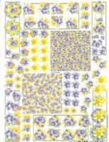A4 Knipvel MD Diny 3D532 Bloemen