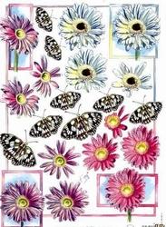 A4 Knipvel Marianne Design Shake it 421 Bloem met vlinder