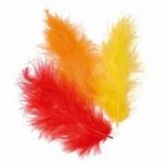 KNORR prandell Marabou veertjes 910 Oranje/geel/rood