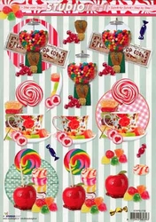 A4 Knipvel Studio Light SL1132 Snoep/popcorn/suikergoed
