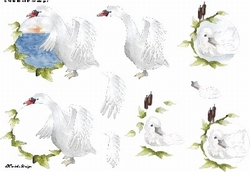 A4 Knipvel Wekabo 602 Condoleance zwaan/eend