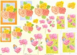 Knipvel A4 Mireille E665 Bloemen