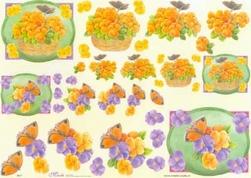 Knipvel A4 Mireille E671 Bloemen