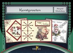 Hobbydols 135 Kerstgroeten + poster 134 & 135 + 11 stickers