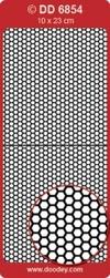Doodey Achtergrondsticker Stickervel DD6854 zeskant