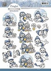 3D Knipvel Yvonne CD10432 Playful Winter Polar Animals