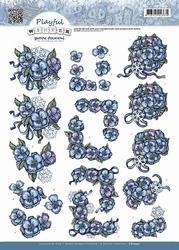 3D Knipvel Yvonne CD10431 Playful Winter Snowflowers