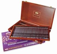 Derwent Coloursoft Houten kist 72 potloden