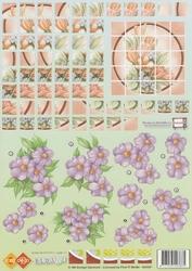 A4 Knipvel Carddeco HJ5501 Bloxx bloemen