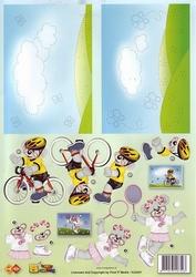 A4 Knipvel Carddeco HJ5301 Borduurvel fiets/tennis
