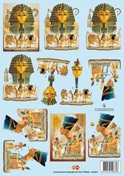 A4 Knipvel Carddeco HJ4901 Egypte Farao