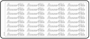 Peel-Off's stickervel Franse tekst 4603 Bon Fête