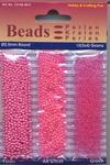 Hobby & Crafting trio Beads Pearl & Gloss 4611 Fuchsia