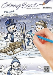 Yvonne's Coloring book YCCB10001 Playfull Winter