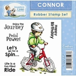 Crafters Comp. Angelica and Adam Rubber Stamp - Connor