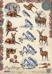 3D Knipvel Amy Design CD10429 Winter Animals in the snow