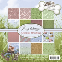 Amy Design Paperpack ADPP10006 Animal Medley