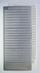 LeCreaDesign® Sticker-Stitch 612693 Zilver/zilver