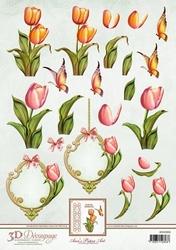 3D Knipvel Ann's Paper Art APA3D006 Tulips/tulpen