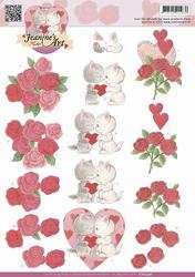 3D Knipvel Jeanines Art CD10456 Valentijn