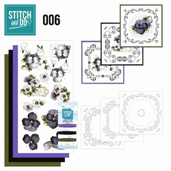 Stitch and Do borduursetje STDO006 Viooltjes