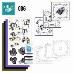 Stitch and Do borduursetje STDO006 Viooltjes